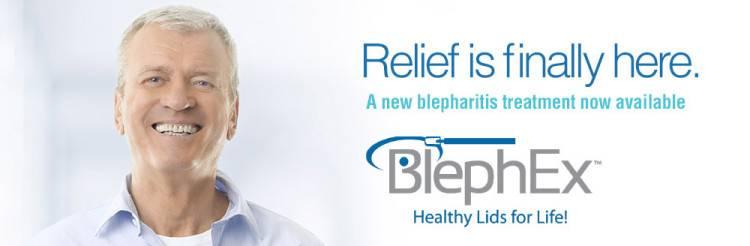 Eye doctor, senior man using BlephEx for blepharitis treatment in Sunrise, Florida