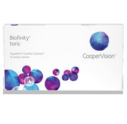 Biofinity Toric lenses in sunrise fl