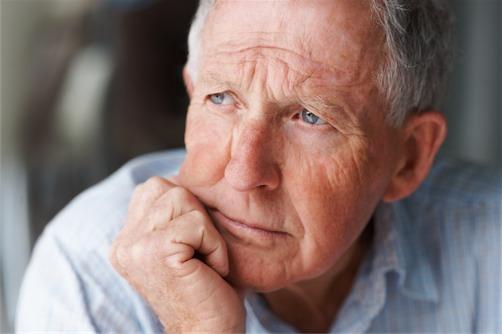 senior man in thought in Sunrise, FL